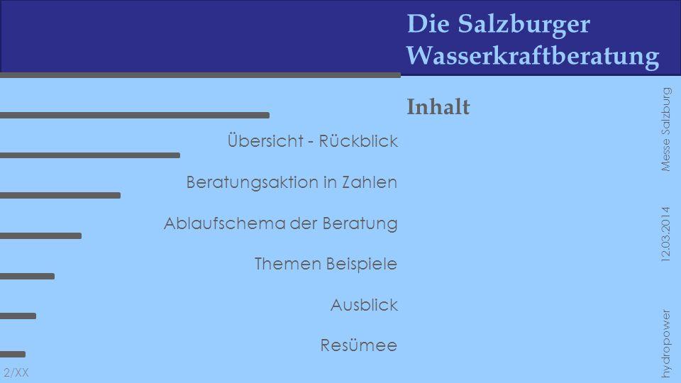 Die Salzburger Wasserkraftberatung Fotos 13/XX hydropower 12.03.2014 Messe Salzburg