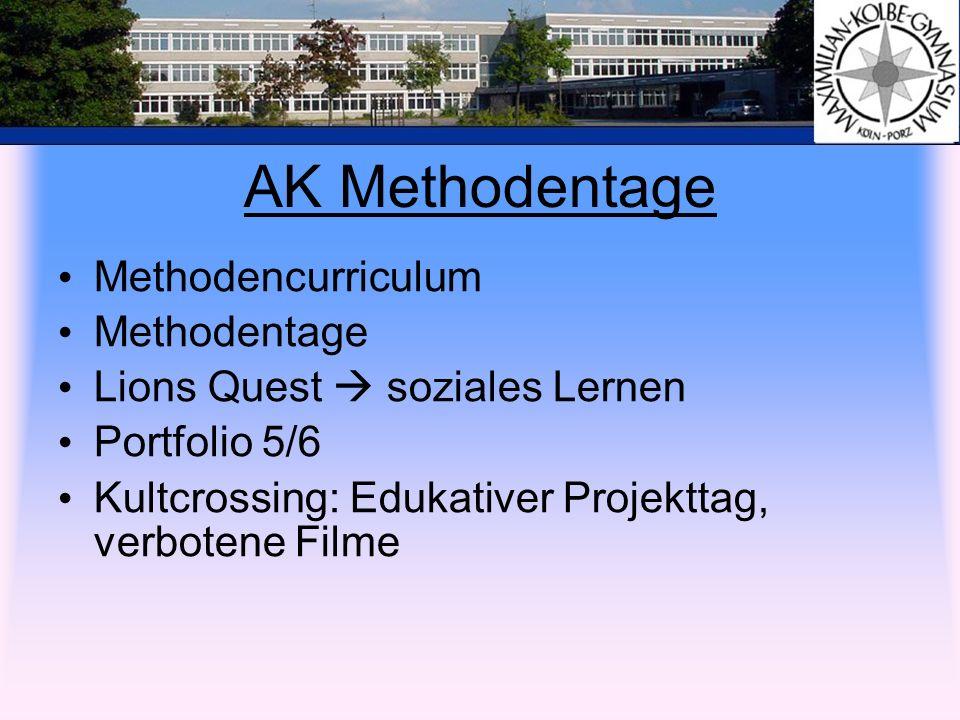 AK Methodentage Methodencurriculum Methodentage Lions Quest soziales Lernen Portfolio 5/6 Kultcrossing: Edukativer Projekttag, verbotene Filme