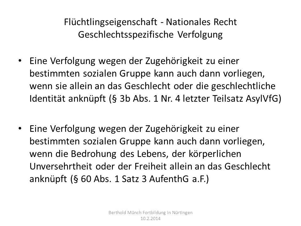 Familiennachzug II Zu subsidiär Geschützten: Ehegatten: § 30 AufenthG, kein Spracherfordernis, Anwendbarkeit von § 29 Abs.