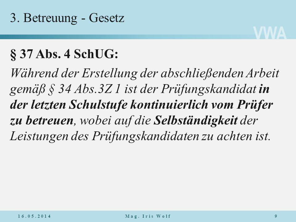 VWA 3.Betreuung - Erläuterung 7. Klasse: Erwartungsbesprechung Vor Beginn der Arbeit, Auftakt Ev.