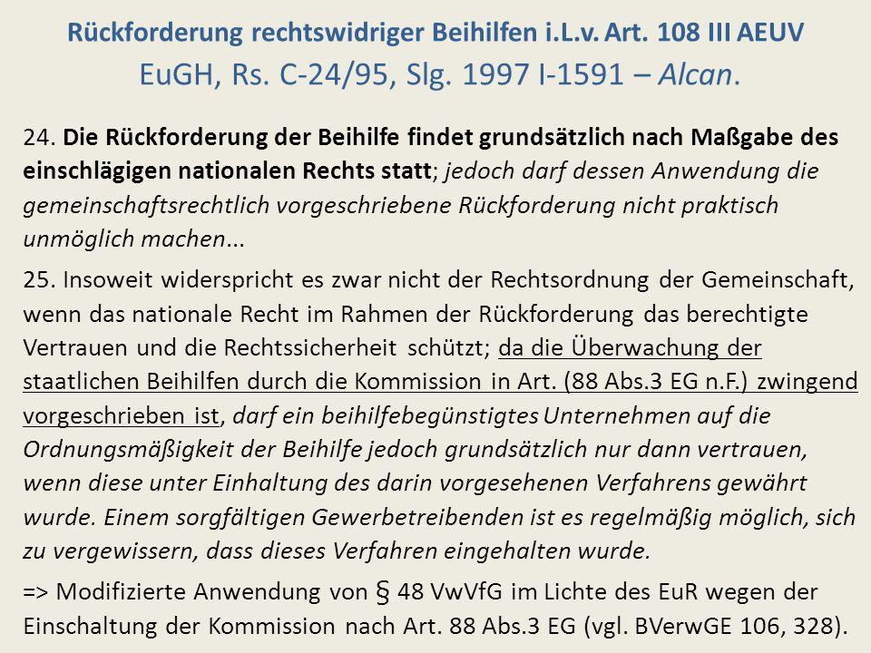 Grenzen der Bestandskraft I: Sonderfall EuGH, Rs.C-453/00, Slg.