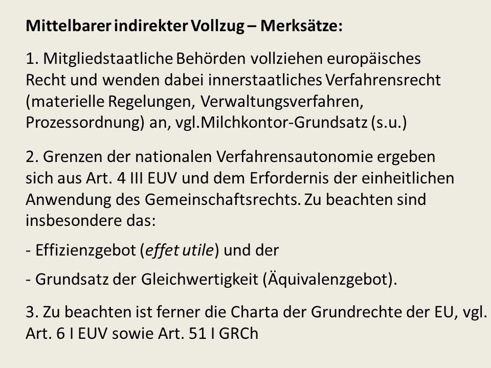 Anwendung: Rückforderung rechtswidriger Beihilfen – Grundsatz EuGH, verb.