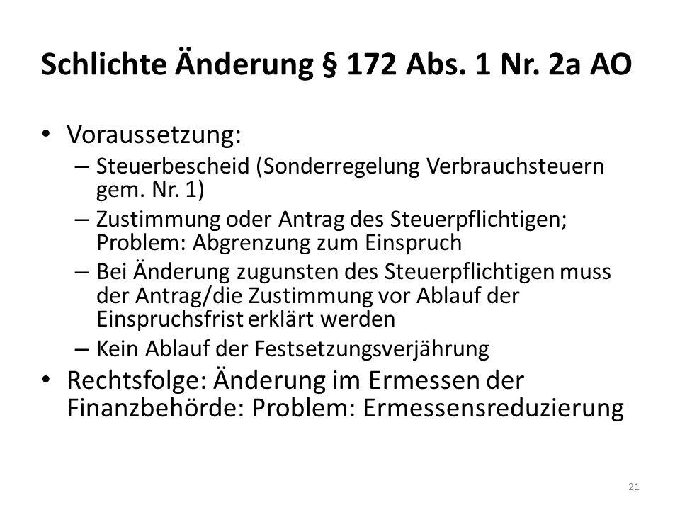 Schlichte Änderung § 172 Abs.1 Nr.