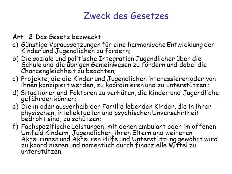 Definition und Grundsätze Kinder, Jugendliche (Art.