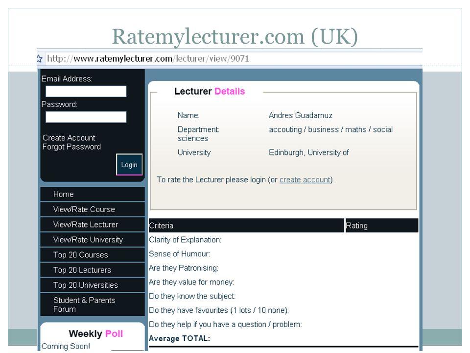 Ratemylecturer.com (UK)