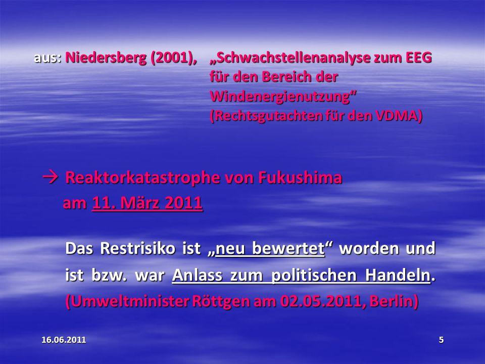 16.06.201126 § 11 Einspeisemanagement Bisher: Nur Anlagen über 100 KW.