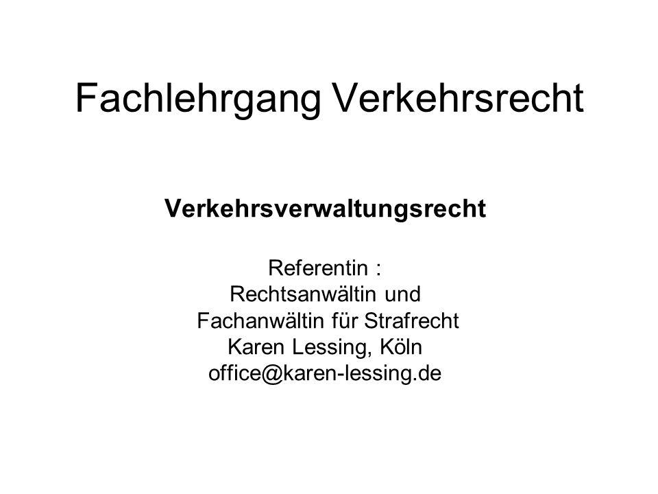 Rechtsschutz gegen Mitteilungen an das VZR Charakter der Mitteilungen ist streitig : -BVerwG und NdsOVG : Mitteilungen sind keine anfechtbaren VAe, sie erzeugen nämlich keine unmittelbaren Rechtswirkungen; sie dienen lediglich als Tatsachengrundlage zur Vorbereitung von Entscheidungen der FE- Behörde und der Gerichte -a.A.