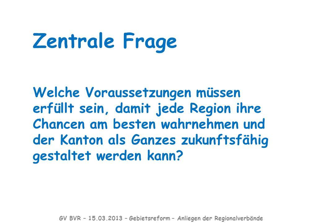Der Grosser Rat hat im Juni 2012 durch die Revision der Kantonsverfassung den ersten und wichtigen Schritt der Gebietsreform gemacht.