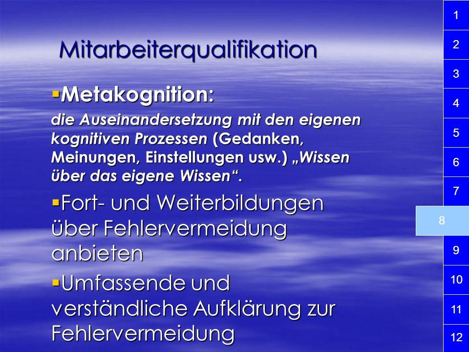 Metakognition: Metakognition: die Auseinandersetzung mit den eigenen kognitiven Prozessen (Gedanken, Meinungen, Einstellungen usw.) Wissen über das ei