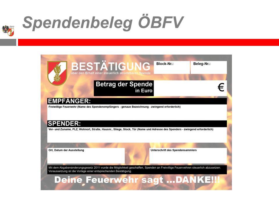 Spendenbeleg ÖBFV
