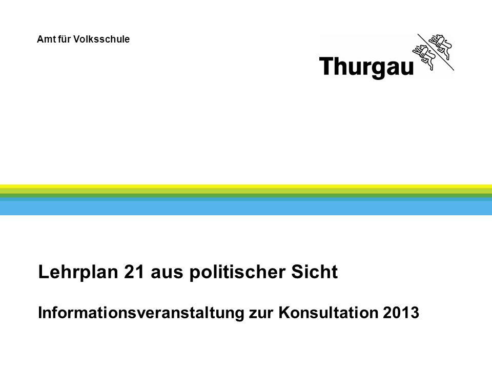 Amt für Volksschule Lehrplan 21 aus politischer Sicht Informationsveranstaltung zur Konsultation 2013