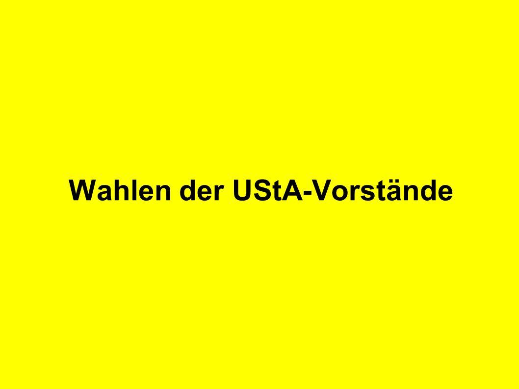 Wahlen der UStA-Vorstände