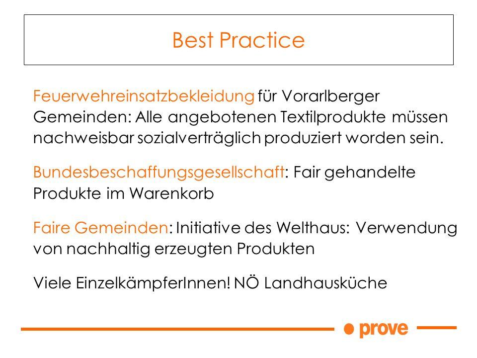 Feuerwehreinsatzbekleidung für Vorarlberger Gemeinden: Alle angebotenen Textilprodukte müssen nachweisbar sozialverträglich produziert worden sein.