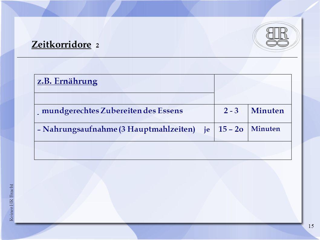 Reiner HR Bracht 15 Zeitkorridore 2 z.B.