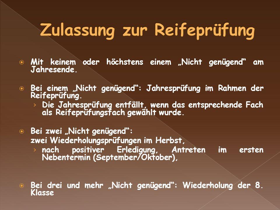 1.Woche nach Weihnachtsferien Dauer der Klausurprüfungen Deutsch (5) Latein (4) oder 1.