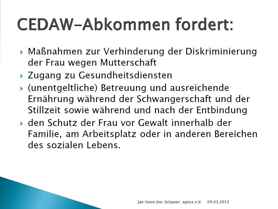 CEDAW-Abkommen fordert: