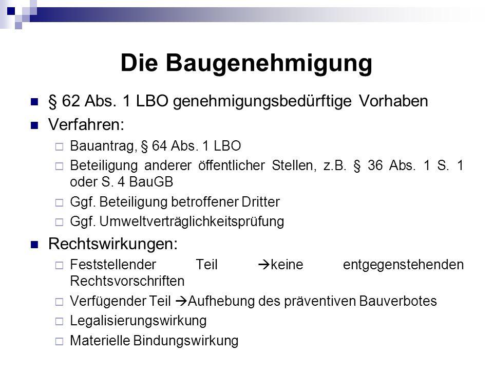 Die Bauaufsicht § 59 Abs.