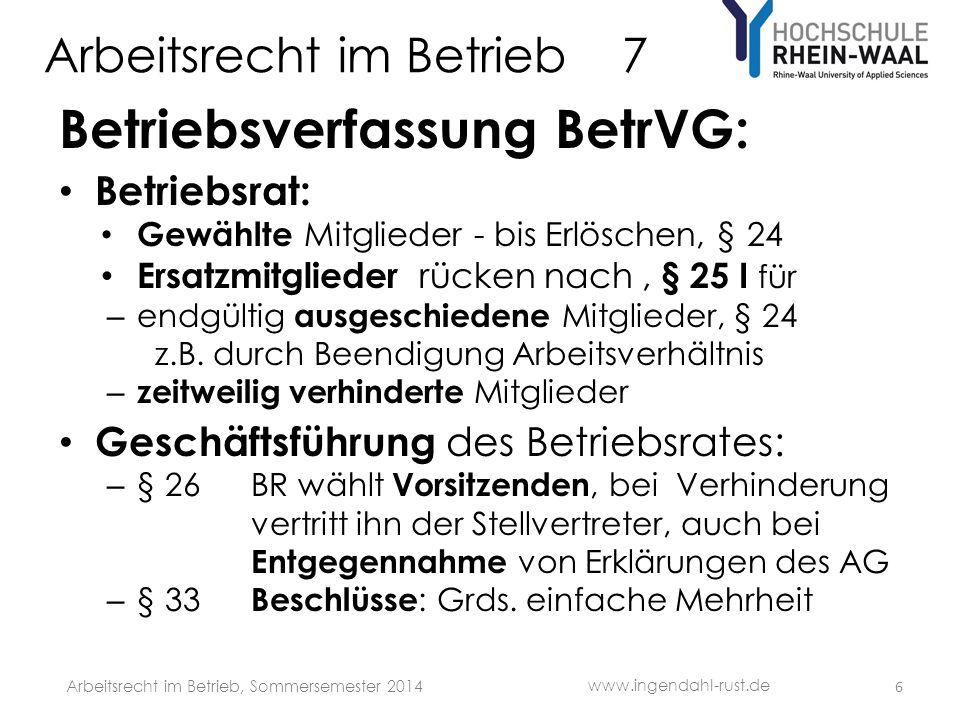Arbeitsrecht im Betrieb 7 1.
