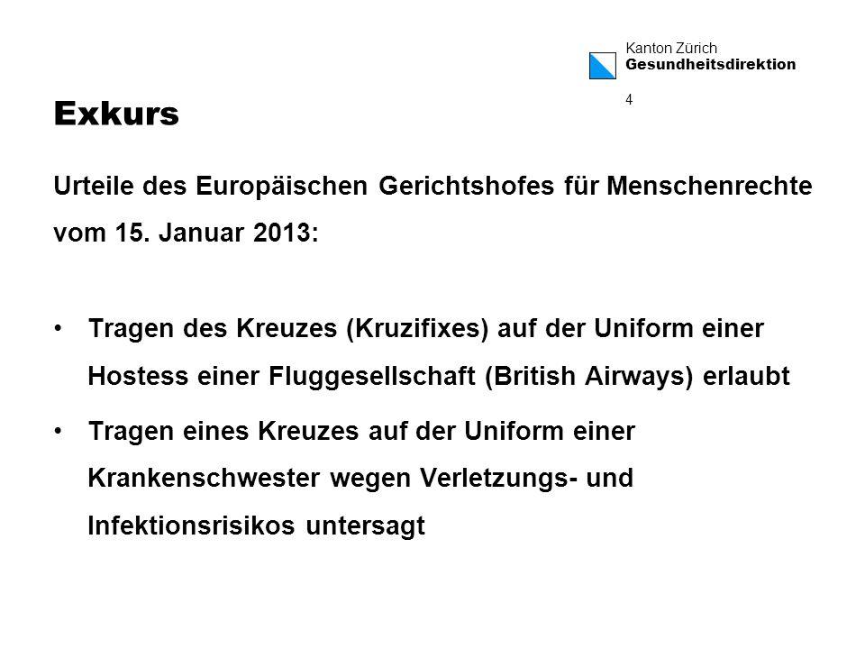 Kanton Zürich Gesundheitsdirektion 5 Bundesverfassung Art.