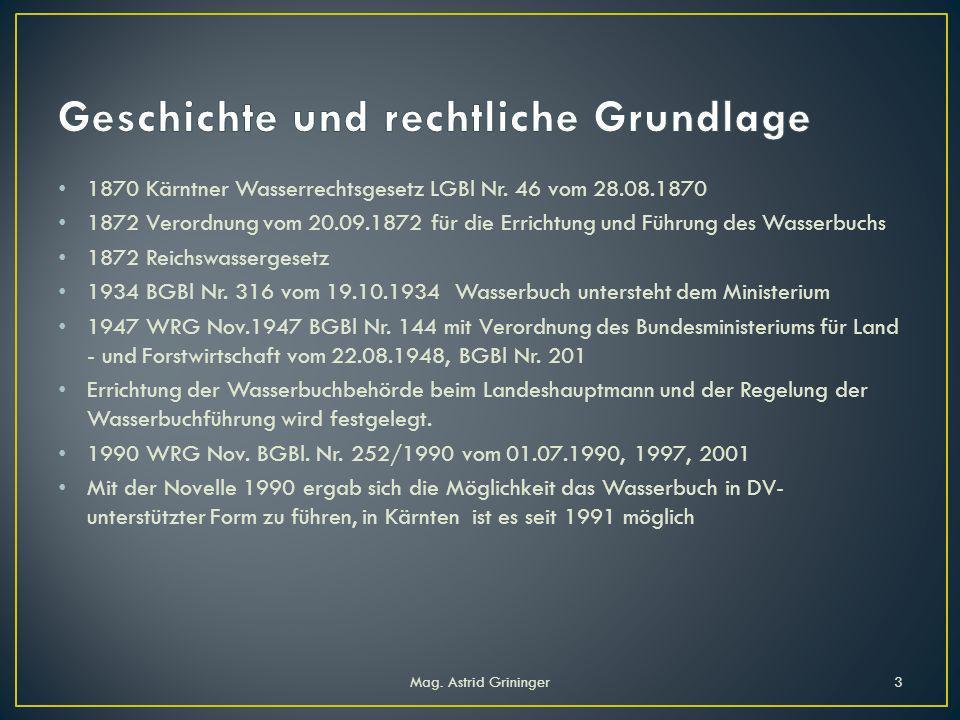 1870 Kärntner Wasserrechtsgesetz LGBl Nr.