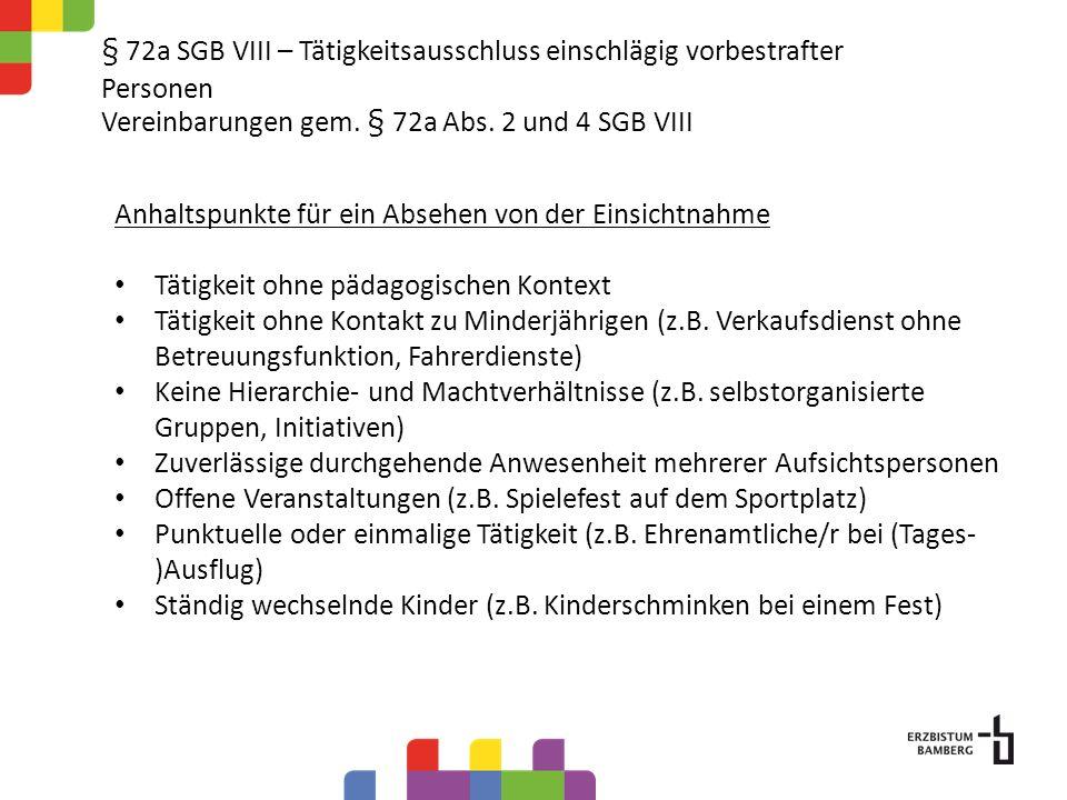 § 72a SGB VIII Tätigkeitsausschluss einschlägig vorbestrafter Personen Datenschutz