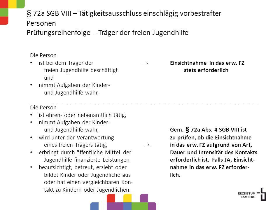 § 72a SGB VIII – Tätigkeitsausschluss einschlägig vorbestrafter Personen Fragen und Antworten Was ist ein aktuelles Führungszeugnis.