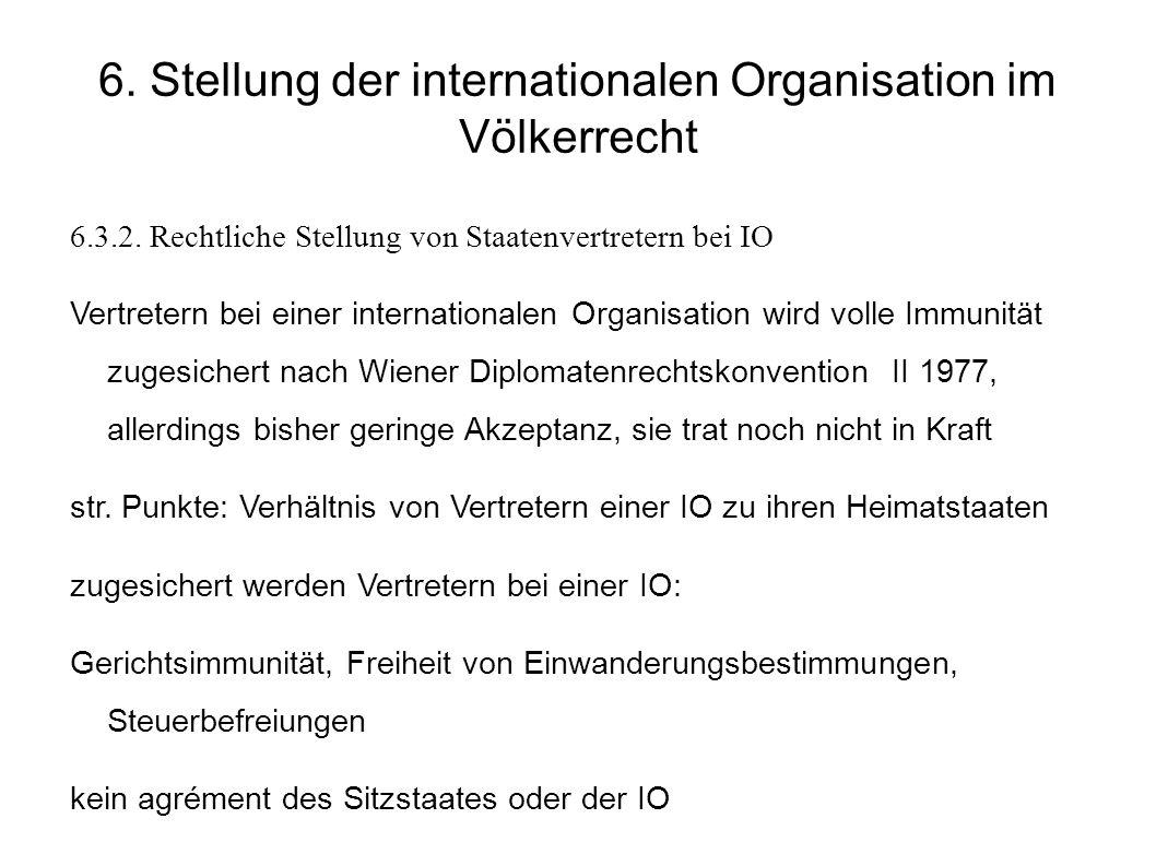 6.Stellung der internationalen Organisation im Völkerrecht 6.3.2.