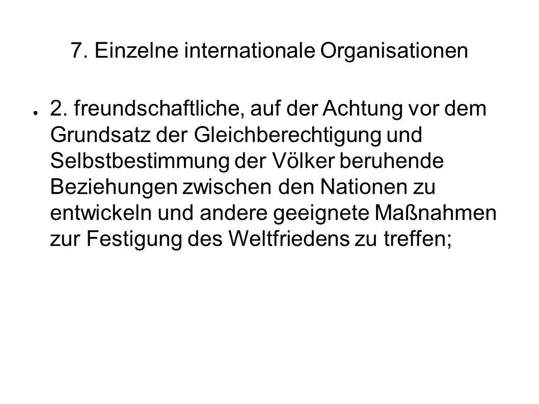 7.Einzelne internationale Organisationen 2.
