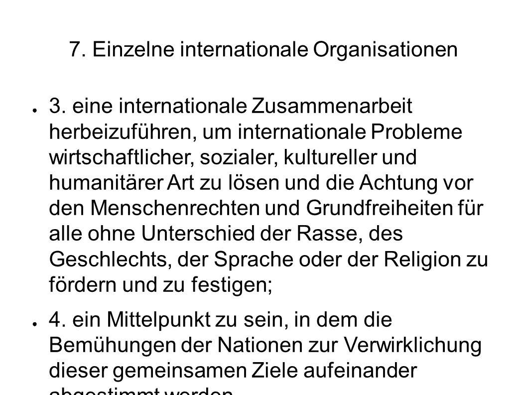7.Einzelne internationale Organisationen 3.
