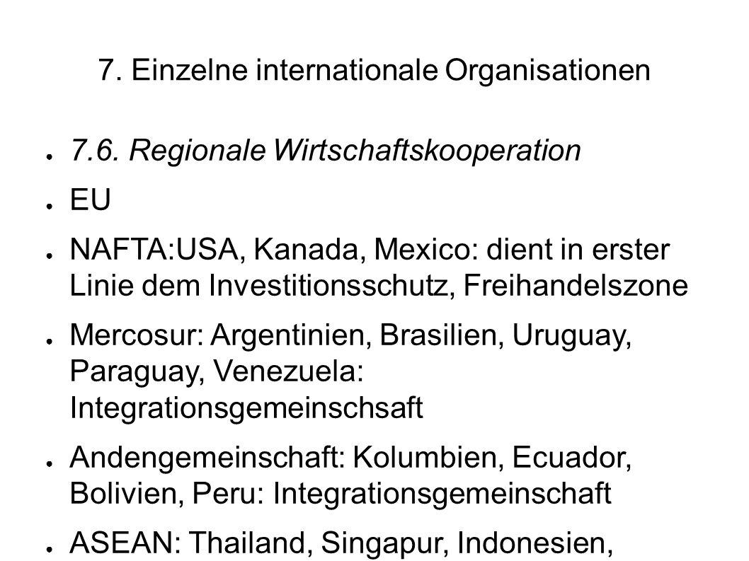 7.Einzelne internationale Organisationen 7.6.