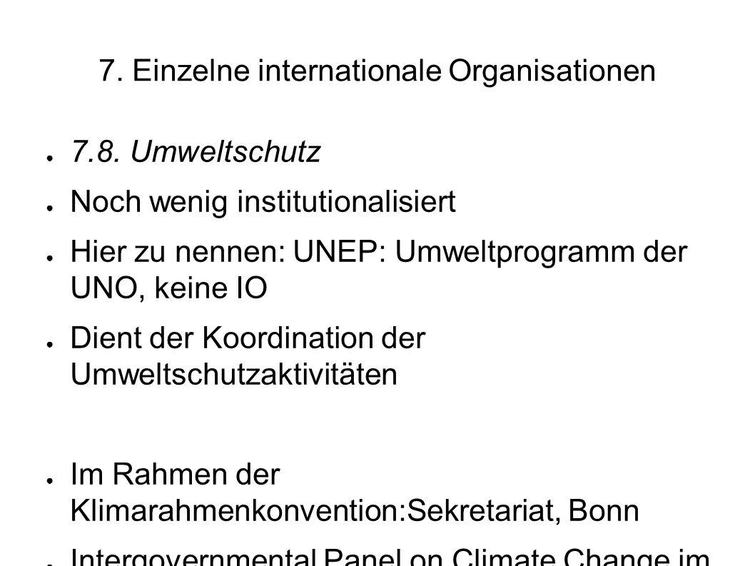 7.Einzelne internationale Organisationen 7.8.