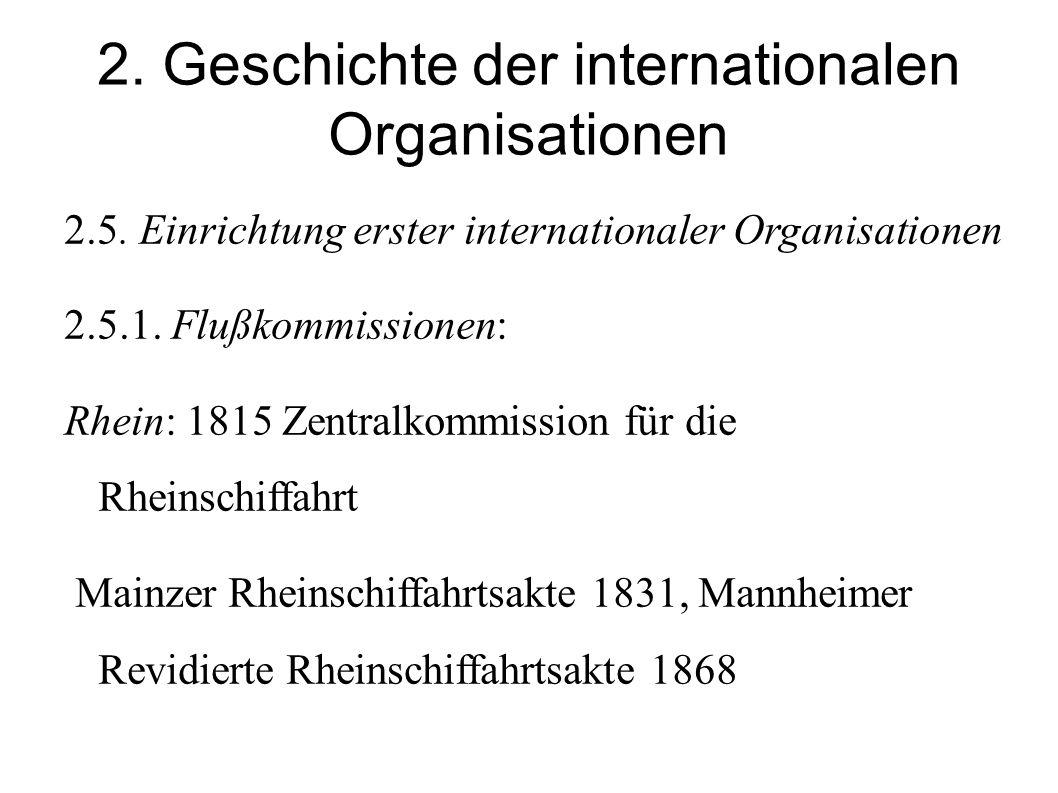 2.Geschichte der internationalen Organisationen 2.5.