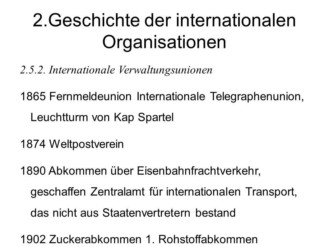 2.Geschichte der internationalen Organisationen 2.5.2.