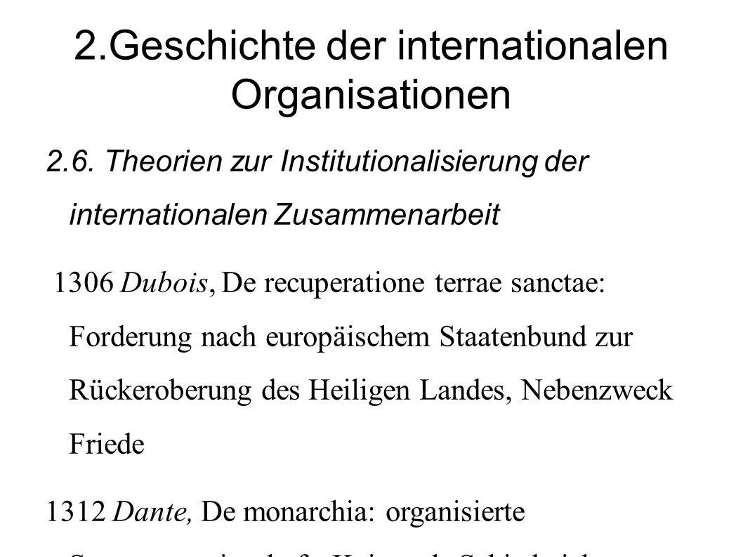 2.Geschichte der internationalen Organisationen 2.6.