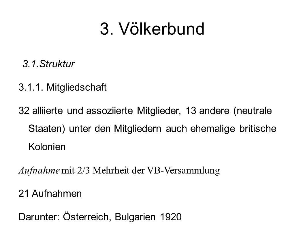 3.Völkerbund 3.1.Struktur 3.1.1.