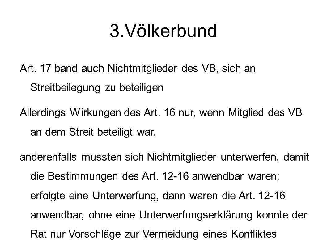 3.Völkerbund Art.