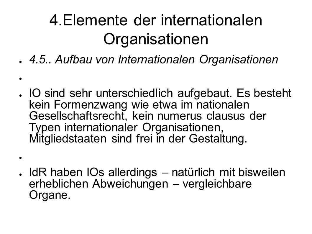 4.Elemente der internationalen Organisationen 4.5..