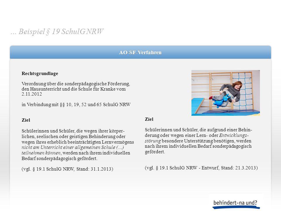 AO-SF-VerfahrenAO-SF-Verfahren Rechtsgrundlage Verordnung über die sonderpädagogische Förderung, den Hausunterricht und die Schule für Kranke vom 2.11