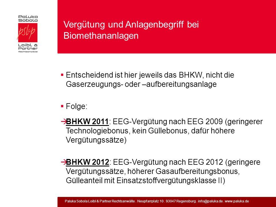 Paluka Sobola Loibl & Partner Rechtsanwälte. Neupfarrplatz 10. 93047 Regensburg. info@paluka.de. www.paluka.de Vergütung und Anlagenbegriff bei Biomet