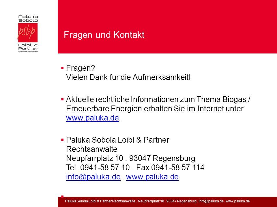 Paluka Sobola Loibl & Partner Rechtsanwälte. Neupfarrplatz 10. 93047 Regensburg. info@paluka.de. www.paluka.de Fragen und Kontakt Fragen? Vielen Dank