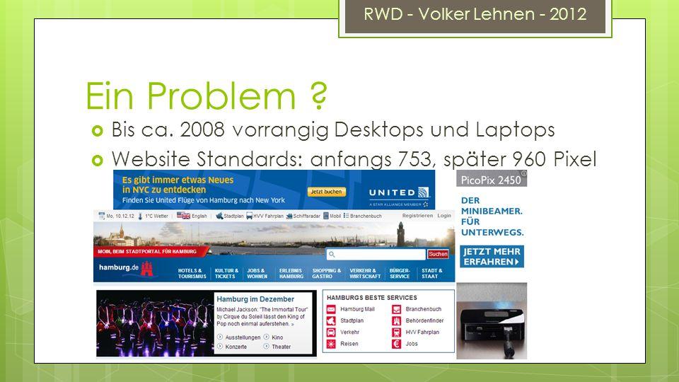 RWD - Volker Lehnen - 2012 Ein Problem . Bis ca.
