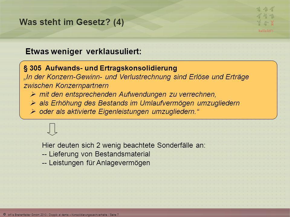 btf/is Breitenfelder GmbH 2010 / Doppik al dente – Konsolidierungssachverhalte / Seite 8 Worüber werden wir sprechen.