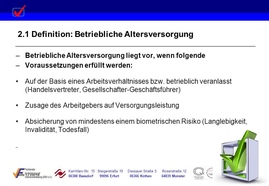 Karl-Marx-Str. 15 Steigerstraße 19 Dessauer Straße 5 Rosenstraße 12 06388 Baasdorf 99096 Erfurt 06366 Köthen 64839 Münster –Betriebliche Altersversorg