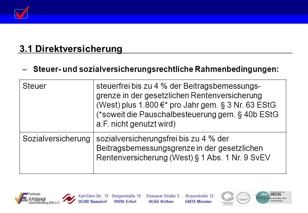 Karl-Marx-Str. 15 Steigerstraße 19 Dessauer Straße 5 Rosenstraße 12 06388 Baasdorf 99096 Erfurt 06366 Köthen 64839 Münster –Steuer- und sozialversiche