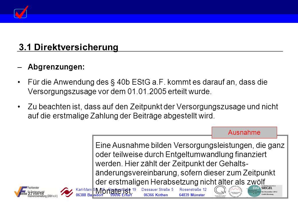 Karl-Marx-Str. 15 Steigerstraße 19 Dessauer Straße 5 Rosenstraße 12 06388 Baasdorf 99096 Erfurt 06366 Köthen 64839 Münster –Abgrenzungen: Für die Anwe
