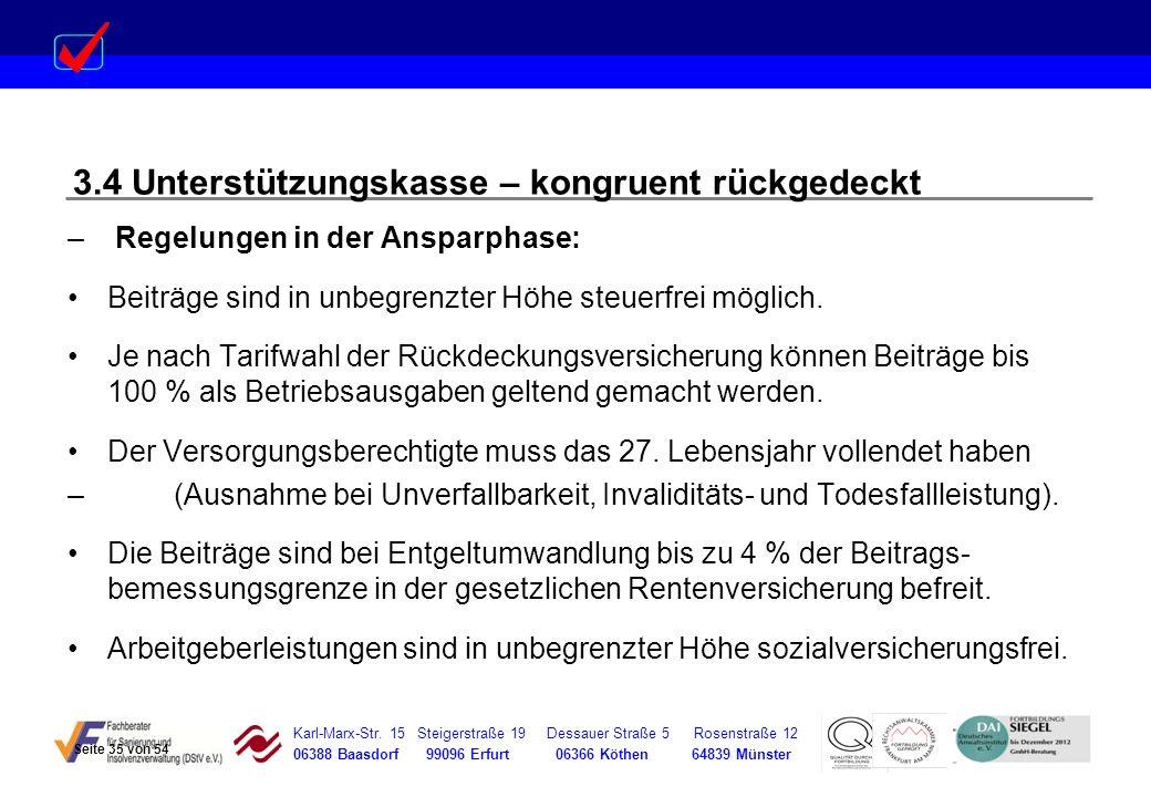 Karl-Marx-Str. 15 Steigerstraße 19 Dessauer Straße 5 Rosenstraße 12 06388 Baasdorf 99096 Erfurt 06366 Köthen 64839 Münster – Regelungen in der Ansparp