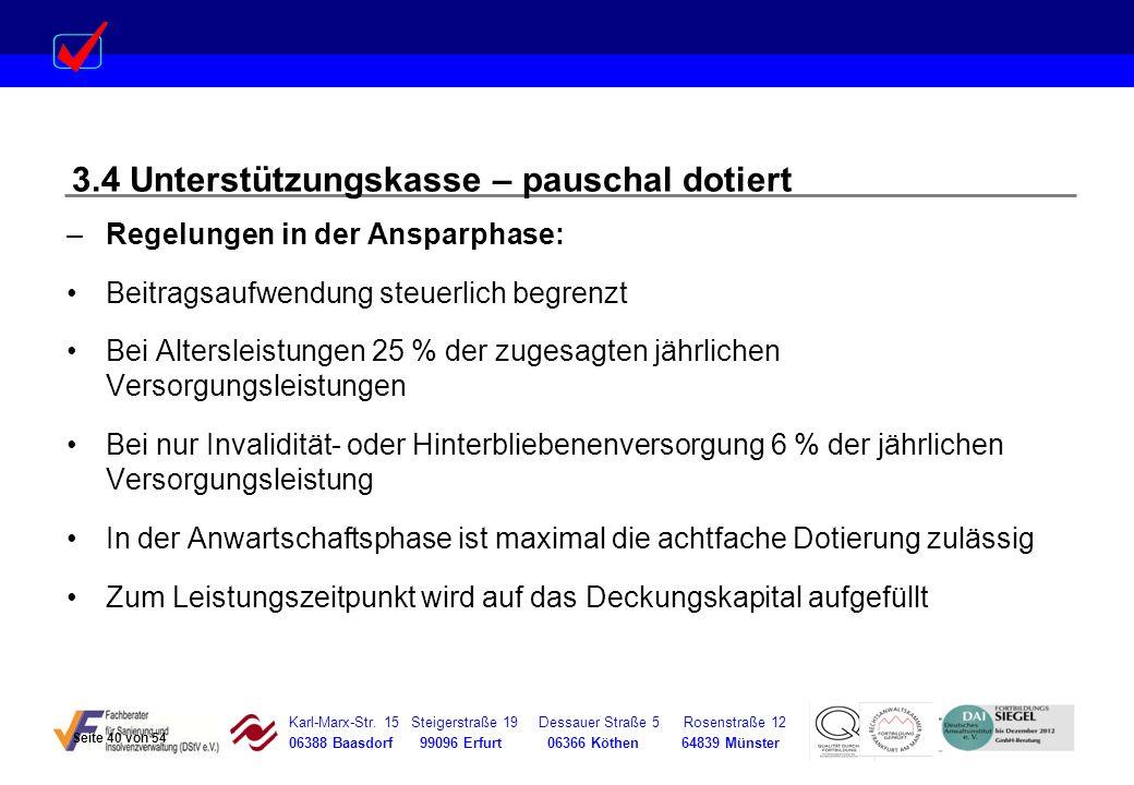 Karl-Marx-Str. 15 Steigerstraße 19 Dessauer Straße 5 Rosenstraße 12 06388 Baasdorf 99096 Erfurt 06366 Köthen 64839 Münster –Regelungen in der Ansparph