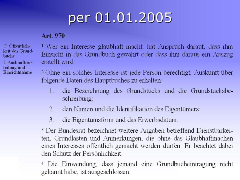 Gemeinsame Jahrestagung KKVA und VSGV in Basel Orientierung EGBA & eGRIS EGBA per 01.01.2005
