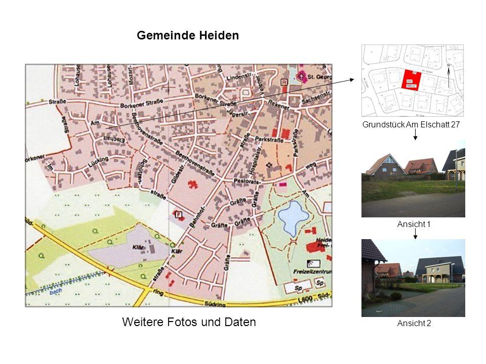 Gemeinde Heiden Grundstück Am Elschatt 27 Weitere Fotos und Daten Ansicht 2 Ansicht 1