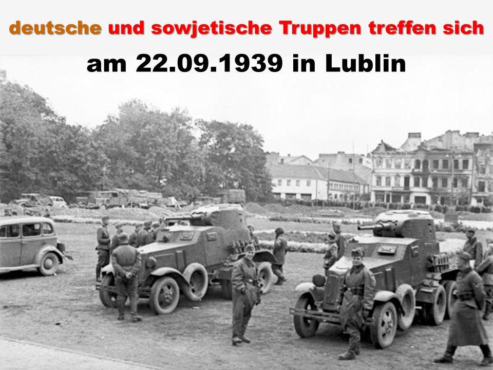 am 22.09.1939 in Lublin deutsche und sowjetische Truppen treffen sich